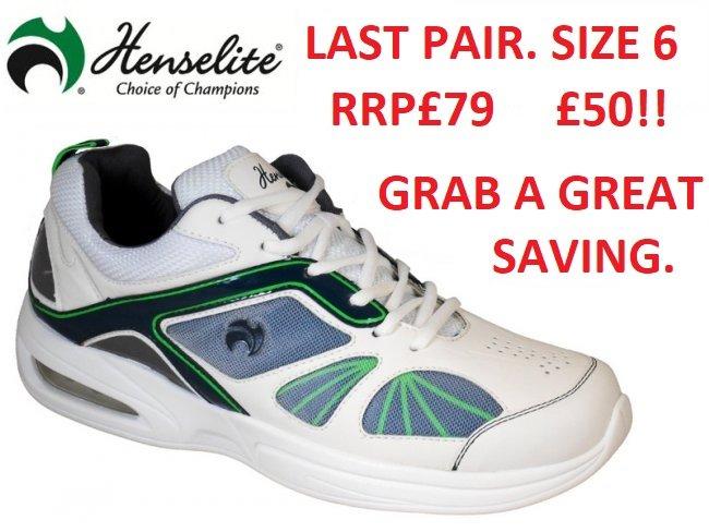 Henselite Tiger Sports42 Shoe.  Size 6 Only