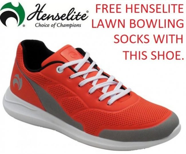 Henselite HM74 Lawn Bowls Shoe with FREE Sock