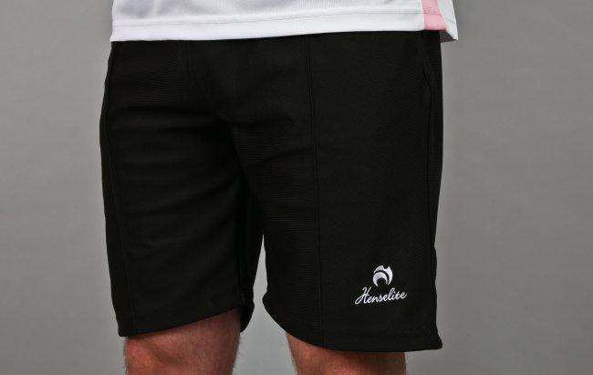 Henselite Lawn Bowling Sports Shorts. Black.