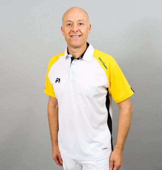 Henselite Choice of Champions Mens Polo. White Yellow Black