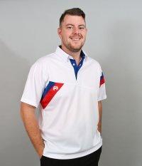 Henselite Britannia Lawn Bowling Polo in White.  NEW PRODUCT!!!