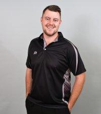 Henselite Lawn Bowling Signature Polo Black-Grey XS & S