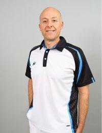 Henselite Lawn Bowling Signature Polo White-Black-Blue