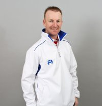 Henselite Lawn Bowling Quater Zip Fleece Jacket - Blue Trim