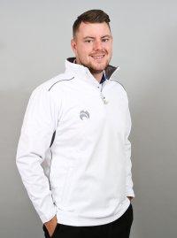 Henselite Lawn Bowling Quarter Zip Fleece Jacket - Grey Trim