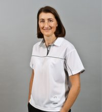 Henselite Ladies Lawn Bowling  Polo Madrid White Grey